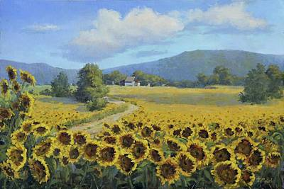 Painting - Sunflower Fields by Viktoria K Majestic