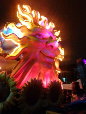 Photograph - Sunflower Float At The Mardi Gras In New Orleans by Michael Hoard