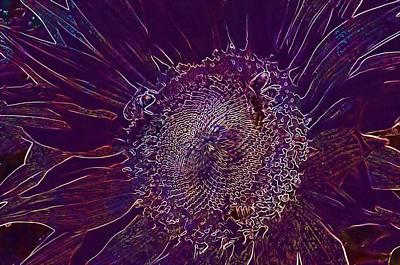 Digital Art - Sunflower Flower Yellow The Bees  by PixBreak Art