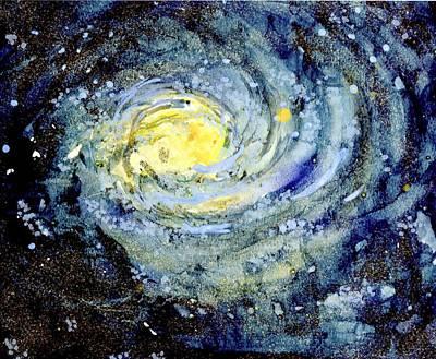 Wall Art - Mixed Media - Sunflower Galaxy by Michelle De Villiers