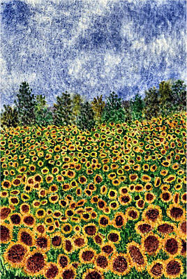 Painting - Sunflower Galaxy by Thom Glace