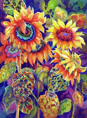 Painting - Sunflower Garden I by Ann Nicholson