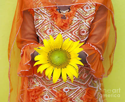 Cut Flowers Photograph - Sunflower Girl by Tim Gainey