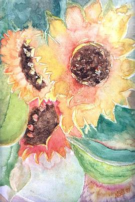 Sunflower Glory Art Print by Renate Nadi Wesley