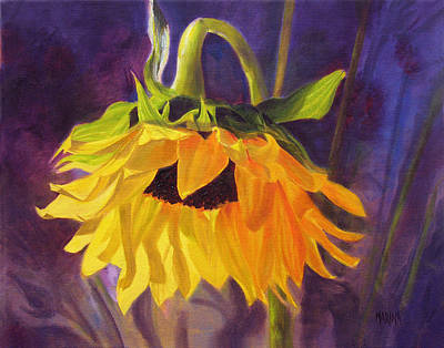Print featuring the painting Sunflower Glow by Marina Petro