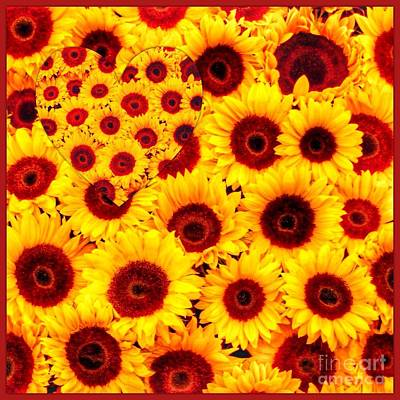 Photograph - Sunflower Heart 2 by Joan-Violet Stretch