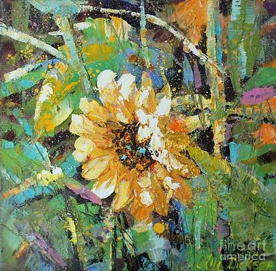 Painting - Sunflower I by Alla Dickson