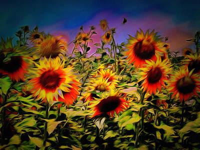 Sunflower Breeze Art Print by Dorothy Berry-Lound
