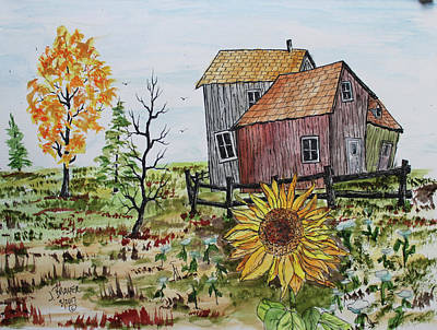 Painting - Sunflower by Jack G Brauer