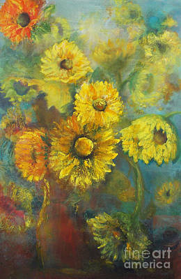 Painting - Sunflower Jam by Marlene Book