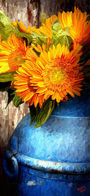 Sunflower Art Print by James Shepherd