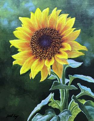 Sunflower Art Print by Janet King