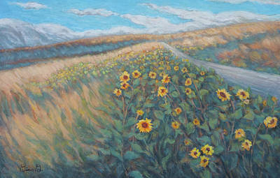 Wall Art - Painting - Sunflower Journey by Gina Grundemann