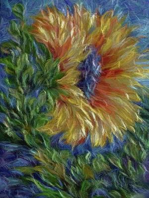 Digital Art - Sunflower by Lena  Owens OLena Art