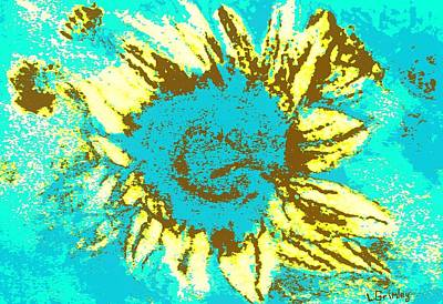 Sunflower Art Print by Lessandra Grimley