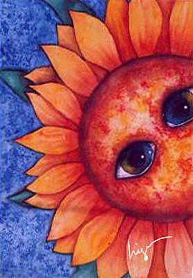 Girasol Painting - Sunflower Look by Higo Gabarron