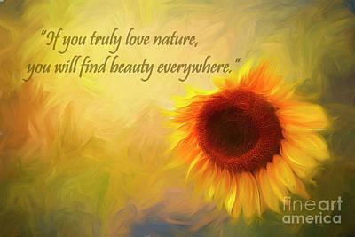 Photograph - Sunflower Love by Darren Fisher