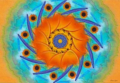 Digital Art - Sunflower Mandala by Anna Louise