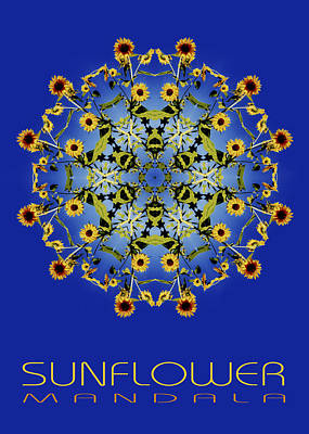 Photograph - Sunflower Mandala by Nancy Griswold