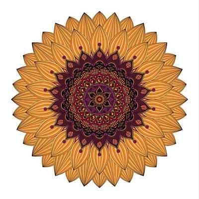 Sunflower Mandala  Art Print by SharaLee Art