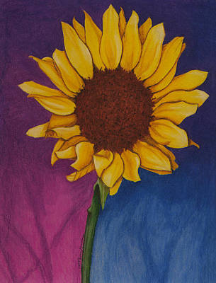 Mixed Media - Sunflower by Mary Elizabeth Thompson