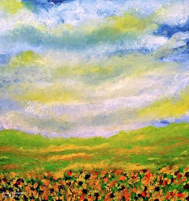 Sunflower Meadow Art Print by Sylvia Scianname