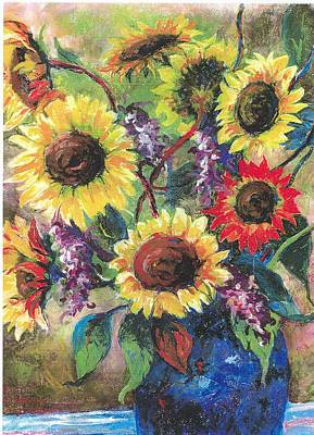 Sunflower Medley Art Print by Grace Goodson