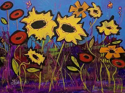 Painting - Sunflower Medley by Terri Einer