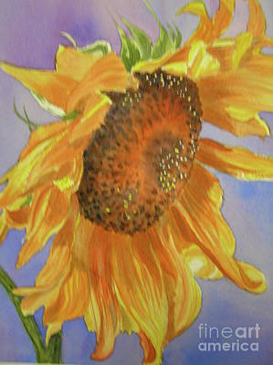 Wall Art - Painting - Sunflower by Midge Pippel