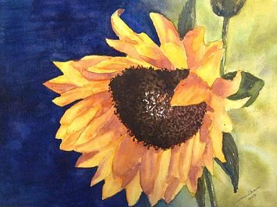 Sunflower Art Print by Monika Deo
