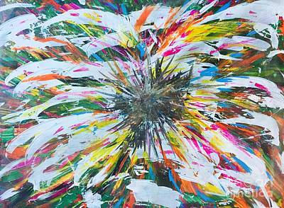 Mums Painting - Sunflower/motherhood by Tracey Thornton