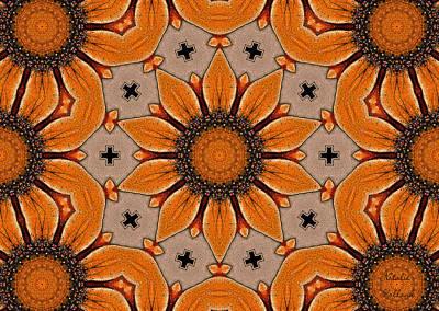 Sunflower Motif Art Print