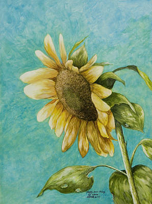 Arkansas Painting - Sunflower Number One by Mary Ann King