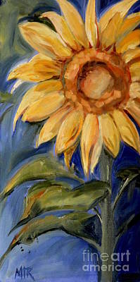 Sunflower Oil Painting Art Print by Maria's Watercolor