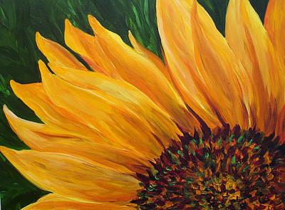 Sunflower Oil Painting Art Print by Mary Jo Zorad