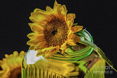 Sunflower On A Jar Original