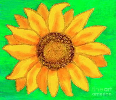 Painting - Sunflower On Breen by Irina Afonskaya