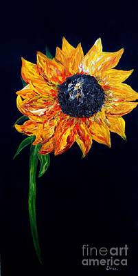 Bright Colours Painting - Sunflower Outburst by Eloise Schneider