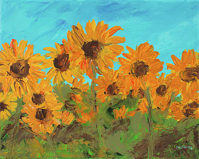 Painting - Sunflower Painting by Ken Figurski