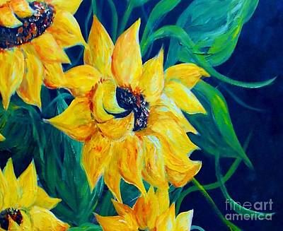Bag Painting - Sunflower Party by Eloise Schneider