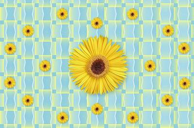 Digital Art - Sunflower Pattern by Michelle McPhillips