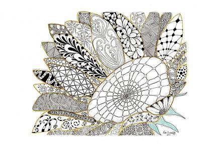 Sunflowers Drawing - Sunflower by Paula Dickerhoff