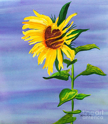 Sunflower Art Print by Pauline Ross