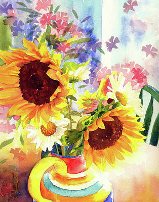 Wall Art - Painting - Sunflower Play by Ann Thompson Nemcosky