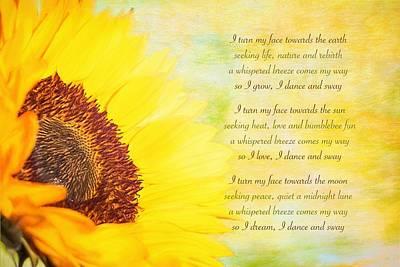 Wall Art - Mixed Media - Sunflower Song by Amanda Lakey