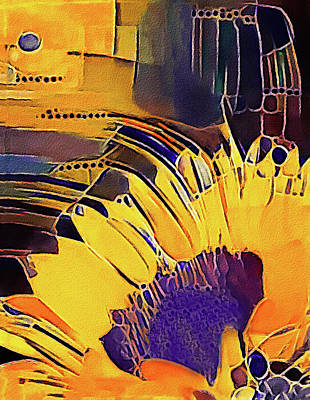 Mixed Media - Sunflower Pop by Susan Maxwell Schmidt