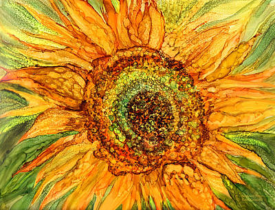 Mixed Media - Sunflower Power by Carol Cavalaris