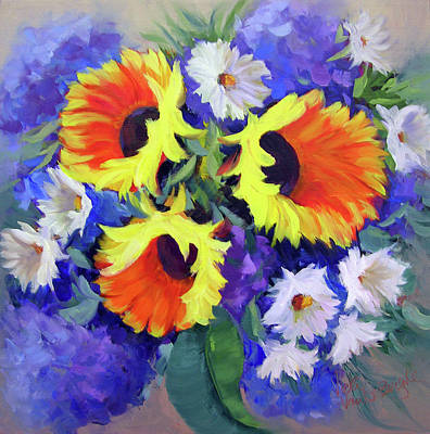 Painting - Sunflower Power by Vicki VanDeBerghe