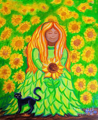 Sunflower Princess Art Print by Nick Gustafson