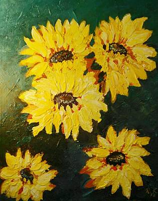 Painting - Sunflower by Ray Khalife